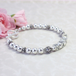Silver Bracelet with beads